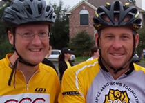 Scott Joy & Lance Armstrong at the 2006 Ride for the Roses
